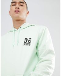 Vans - Worldwide Hoodie With Back Print In Green Va3h99p0n for Men - Lyst