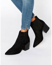 ASOS - Black Elliot Pointed Chelsea Ankle Boots - Lyst