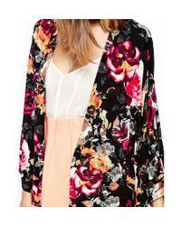 ASOS - Multicolor Kimono In Dark Rose Print - Multi - Lyst