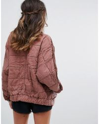 Free People - Brown Dolam Quilted Jacket - Lyst