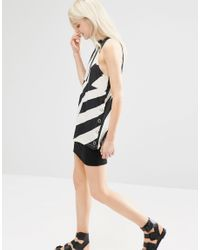 Cheap Monday - Natural Striped Tank With Side Poppers - Lyst
