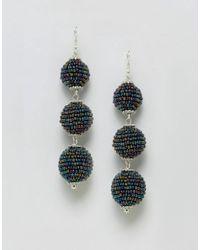 ASOS - Multicolor Beaded Ball Drop Earrings - Lyst