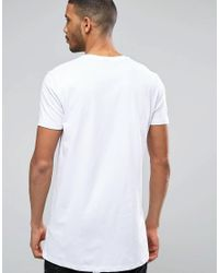 ASOS - 2 Pack Super Longline T-shirt With Crew Neck In Black/white Save for Men - Lyst