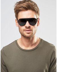 Versace - Black Aviator Sunglasses for Men - Lyst