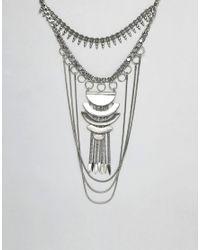 ASOS - Metallic Statement Festival Bib Necklace - Lyst