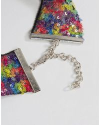 ASOS - Multicolor Pack Of 2 Confetti Sequin Chokers - Lyst