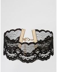 ASOS | Black Night Lace Choker Necklace | Lyst
