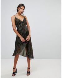 Warehouse - Black Rainbow Shimmer Stripe Dress - Lyst