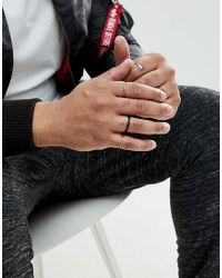 ASOS - Multicolor Design Plus Midi Ring Pack In Burnished Finish for Men - Lyst