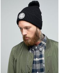 Herschel Supply Co. - Sepp Bobble Beanie In Black for Men - Lyst