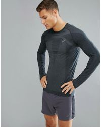 Asics - Running Seamless Compression Long Sleeve Top In Black 134605-0904 for Men - Lyst