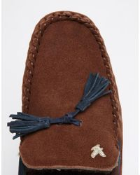 Lyle & Scott - Brown Torridan Suede Slipper - Lyst