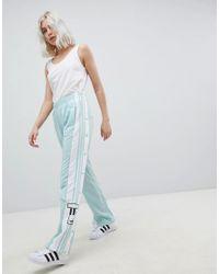 08c83f84 adidas Originals Women's Green Originals Adicolor Popper Trousers In Mint