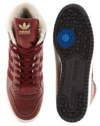 Adidas Originals - Red Decade Shearling Lined Trainers for Men - Lyst