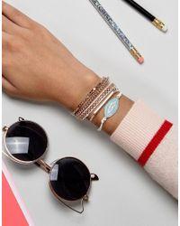 ALDO - Metallic Rose Gold Stacking Bracelets - Lyst