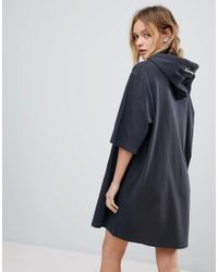 Cheap Monday - Black Scibbled Logo Hoody Dress - Lyst