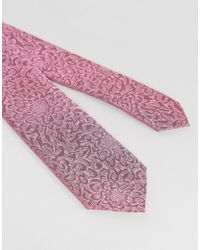 Noose And Monkey - Pink Wedding Tie In Floral for Men - Lyst
