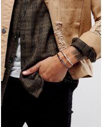 ASOS | Metallic 2 Pack Bangles In Silver And Gunmetal for Men | Lyst