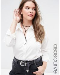 ASOS | Black Simple Bolo Choker Necklace | Lyst