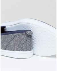New Look - Slip On Plimsolls In Blue for Men - Lyst