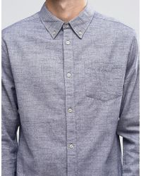 Bellfield | Blue Printed Check Shirt With Double Pocket for Men | Lyst