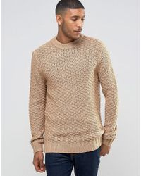 Bellfield | Natural Chunky Textured Knitted Jumper for Men | Lyst
