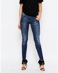 G-Star RAW - Blue Elwood 5620 Ultra High Super Skinny Jeans - Lyst
