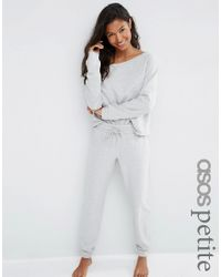 ASOS - Gray Lounge Marl Jersey Jogger - Lyst