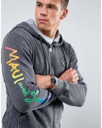 Maui & Sons - Black Maui Endless Summer Printed Zip Thru Hoodie for Men - Lyst
