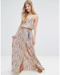 d6904dfd34c4 Pepe Jeans Ronette Printed Maxi Dress in Orange - Lyst