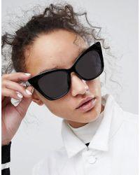 ASOS - Black Asos Basic Cat Eye Sunglasses - Lyst