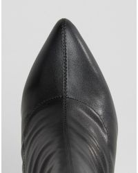 Truffle Collection - Black Contrast Heel Boot - Lyst