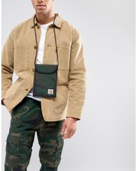 Carhartt WIP Green Collins Neck Pouch In Camo for men