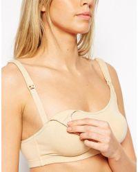 Emma Jane - Natural Maternity Cotton Nursing Bra - Lyst