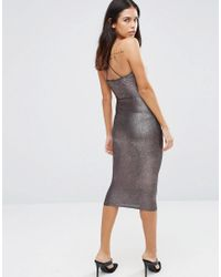 AX Paris | Metallic Midi Cami Dress | Lyst
