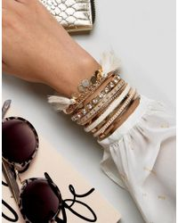 ALDO - Metallic Multipack Tassel Bracelets - Lyst