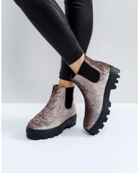 ASOS Natural Arena Chunky Chelsea Boots