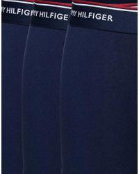 Tommy Hilfiger - Blue Stretch Trunks In 3 Pack for Men - Lyst