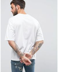 ASOS | White Oversized T-shirt With Palm Print for Men | Lyst