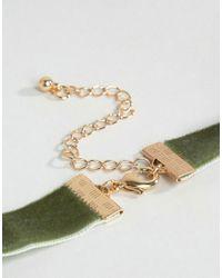 ASOS - Green Basic Velvet Choker Necklace - Lyst