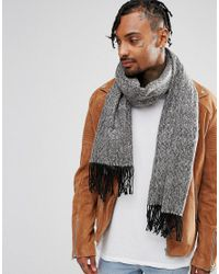 ASOS - Blanket Scarf In Black Twist for Men - Lyst