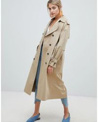 1da62b43445af New Look Oversized Trench Trench Coat in Natural - Lyst