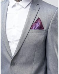 Original Penguin - Purple Printed Silk Pocket Square for Men - Lyst