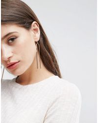 ASOS - Metallic Open Twisted Bar Earrings - Lyst