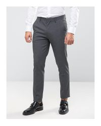 ASOS - Multicolor Skinny Suit Trousers In Charcoal for Men - Lyst