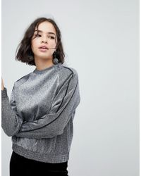 Monki - Metallic Sparkle Jumper - Lyst