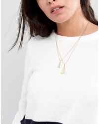 Nylon - Metallic Tassel Necklace - Lyst