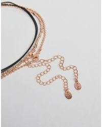 ALDO - Metallic Delicate Rose Gold Wraparound Choker Necklace - Lyst