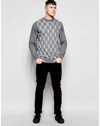 Lyle & Scott - Gray Crew Neck Space Dye Sweater for Men - Lyst