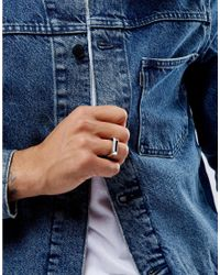 ASOS | Metallic Sleek Signet Ring In Silver for Men | Lyst